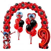 Композиция из шаров - Арка, цифра  и фонтаны Леди Баг