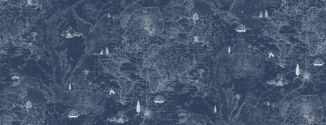 Treasure map, Blue