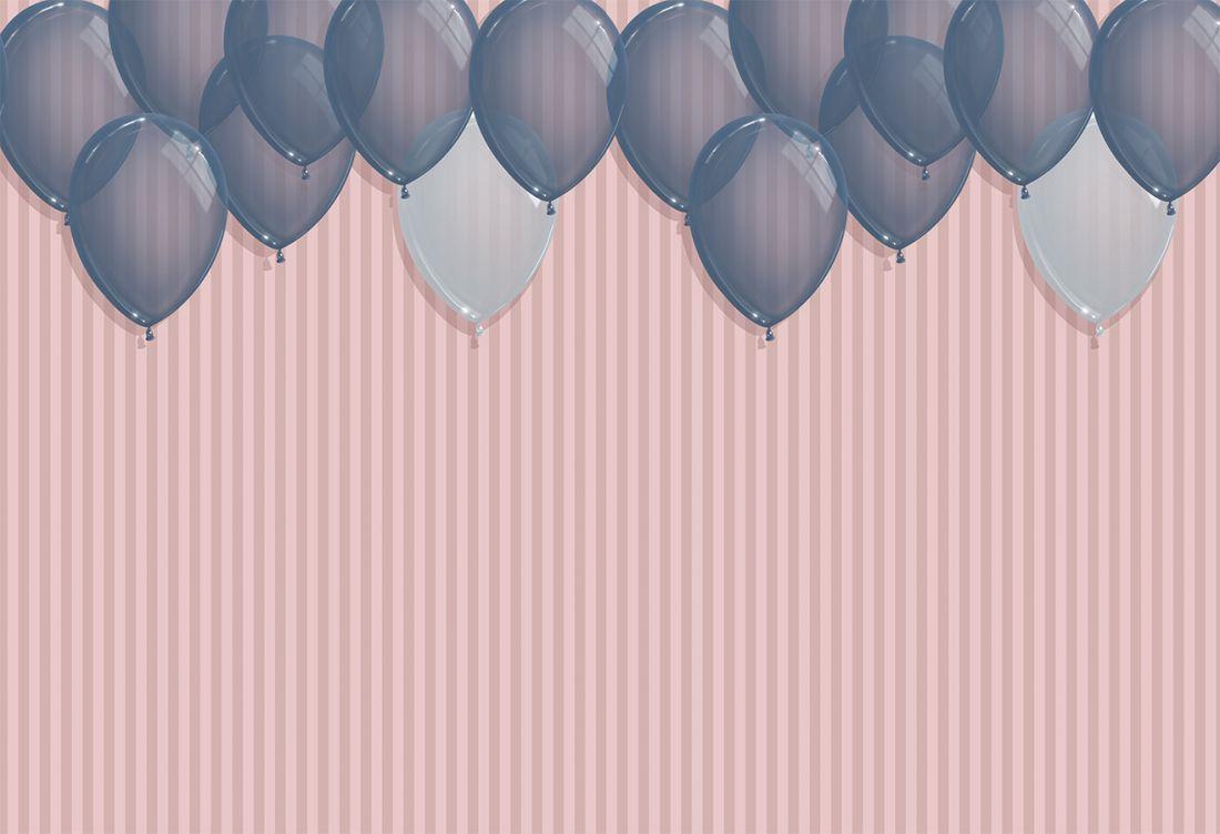 Darkblue Balloons Lines