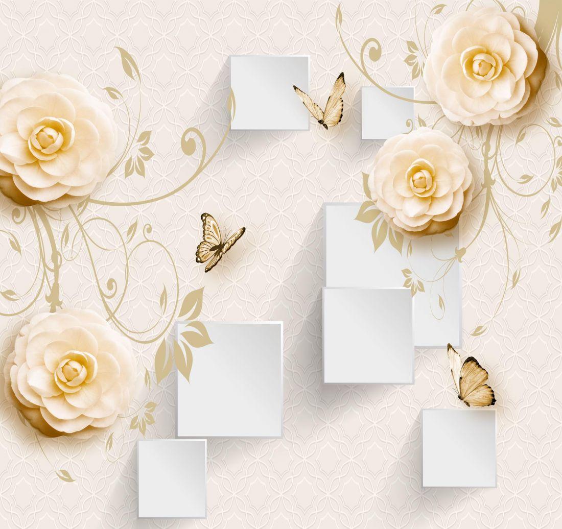 Цветы и бабочки 5-248