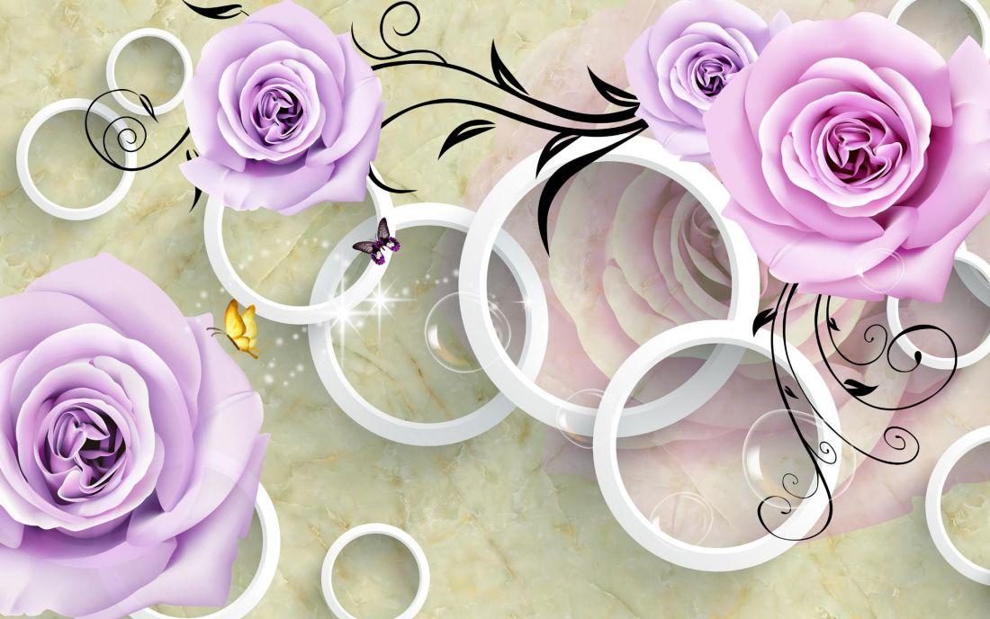 Розы и бабочки 6-187