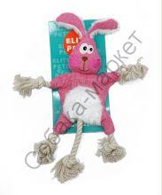 Игрушка Заяц шуршащий коврик с канатом