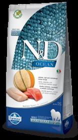 N&D Ocean Salmon, Cod & Cantalupe melon giant&maxi adult (Лосось, треска, дыня для взрослых собак гигантских пород)