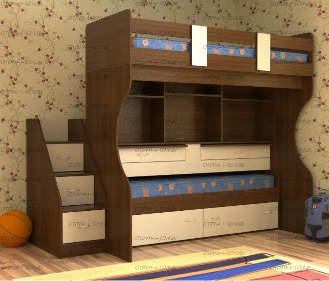 Кровать двухъярусная Милана-10