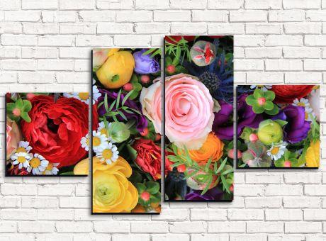 Модульная картина Цветочный ассортимент