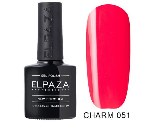 ELPAZA ГЕЛЬ-ЛАК  Charm 051  Гламур (Красно-розовый)  10 мл