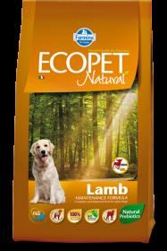 Ecopet Natural Lamb Adult Mini (Экопет Нэчурал для взрослых собак мелких пород с ягненком) 12 кг