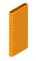 Защитный кейс для  Xiaomi Power Bank 2i/3  10000 mAh ( Силикон / Оранжевый)