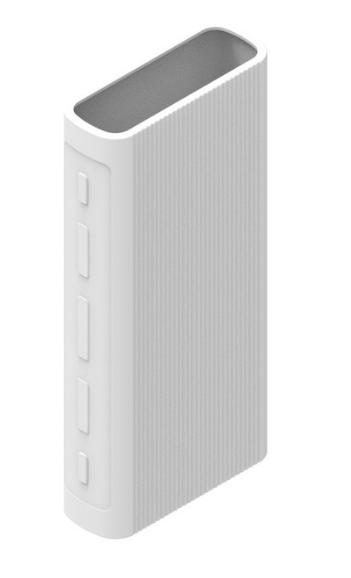 Защитный кейс для  Xiaomi Power Bank 3/3 Pro на 20000 mAh ( Силикон / Белый)