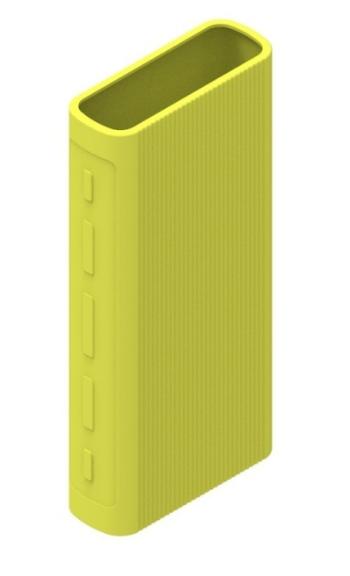 Защитный кейс для  Xiaomi Power Bank 3/3 Pro на 20000 mAh ( Силикон / Салатовый)