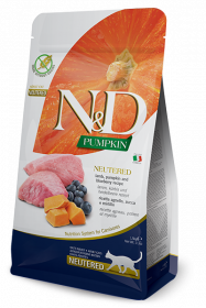 N&D Cat Pumpkin Neutered Lamb (ягненок, тыква и черника для кастрированных кошек)