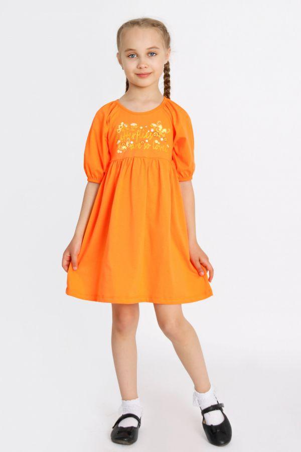 Платье Мозайка детское [оранжевый]