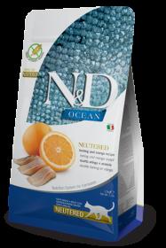 N&D Ocean Herring & Orange Neutered adult (Сельдь и апельсин беззерновой сухой корм для стерилизованных кошек)