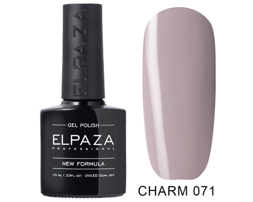 ELPAZA ГЕЛЬ-ЛАК  Charm 071  Скромное платье (Светло-серый)  10 мл