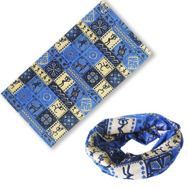 """Мультибандана """"Африканский орнамент"""" - синяя"""