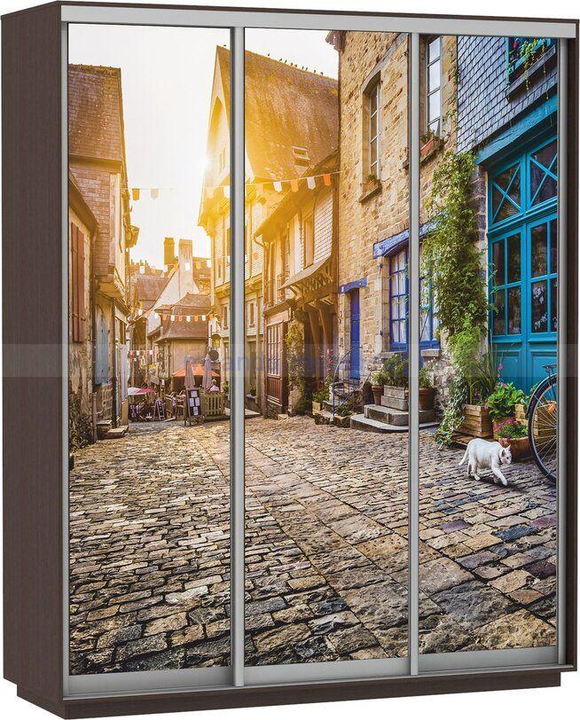 Шкаф-купе Экспресс Фото трио Улица 2200 х Ш2400 х 600