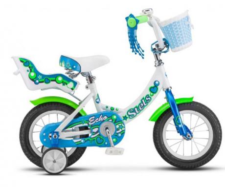 "Велосипед 12"" STELS ECHO Белый/морская-волна"