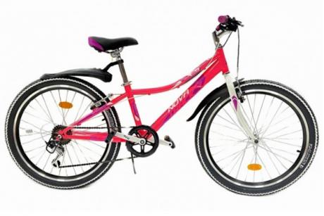 """Велосипед NOVATRACK 24"""" ALICE розовый, сталь, 12"""""""