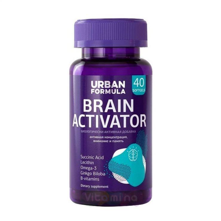 Урбан Формула Комплекс для концентрации, внимания и памяти Brain Activator, 40 капс.
