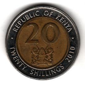 Кения 20 шиллингов 2010