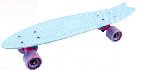 Скейтборд пластиковый Fishboard 23 sky blue