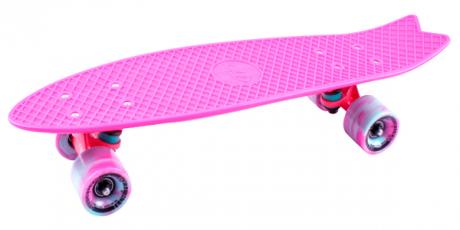 Скейтборд пластиковый Fishboard 23 pink