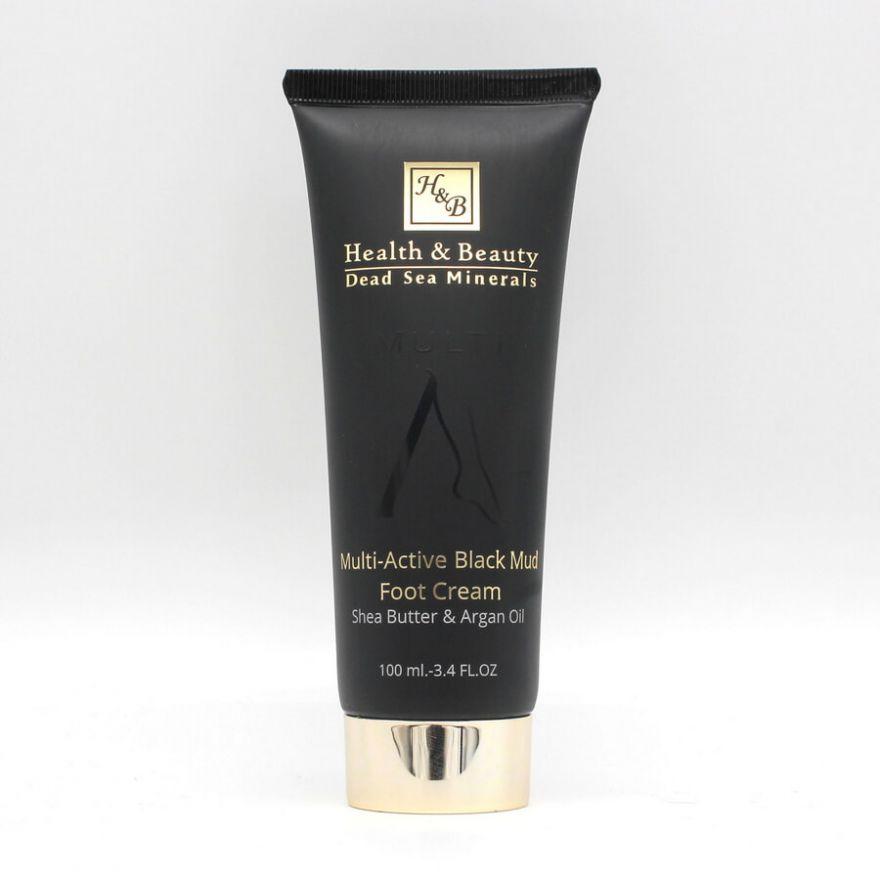 Крем для ног мультиактивный с грязью мёртвого моря Health & Beauty BLACK (Хелс энд Бьюти Блэк) 100 мл