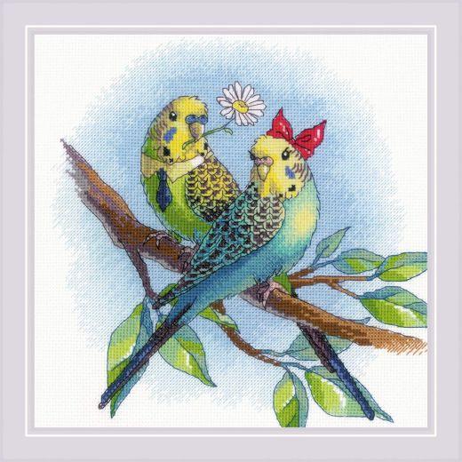 Набор для вышивания крестом Кеша и Стеша №1956 фирма Риолис