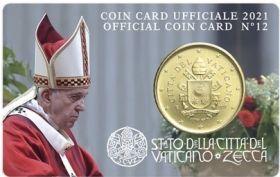 50 центов (Регулярный выпуск) Ватикан  2021 BU