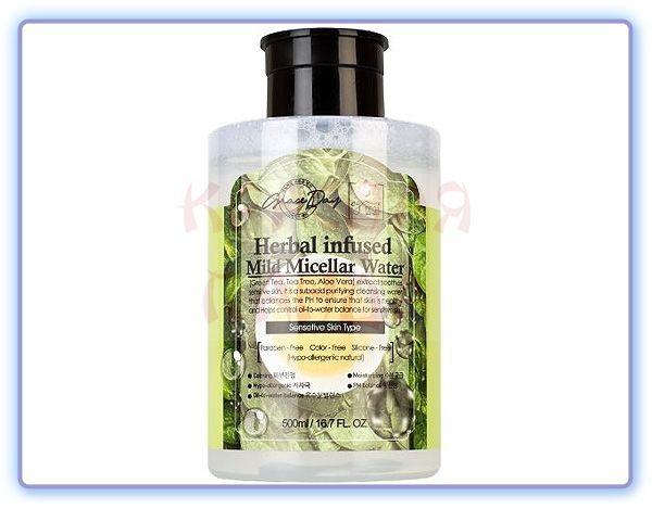 Мягкая мицеллярная вода с растительными экстрактами Grace Day
