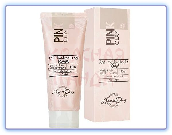 Grace Day Pink Clay Anti-Trouble Facial Foam