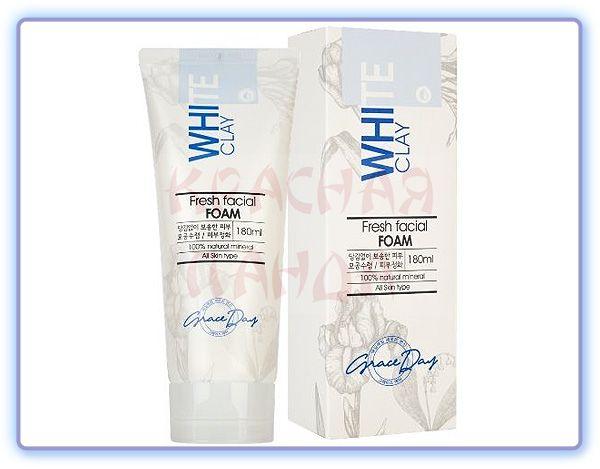 Пенка для умывания с белой глиной Grace Day White Clay Fresh Facial Foam