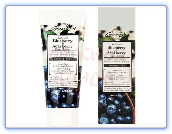 Пенка для умывания с экстрактами черники и ягод асаи Grace Day