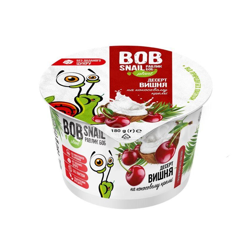 Десерт кокосовый вишня ТМ Bob Snail, 180 грамм