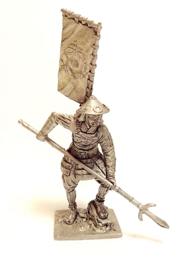 Фигурка Самурай асигару Япония 1500-1600 г. олово