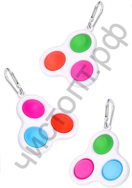 Симпл димпл (Simple Dimple) Брелок 3 с карабином 7х7 см (4)