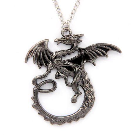 Кулон с цепочкой Дракон