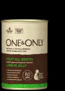 One&Only Lamb in jelly Влажный корм для взрослых собак, с ягненком. 400гр.