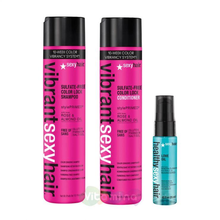 """SEXY HAIR Набор для волос """"Сохрани цвет"""""""