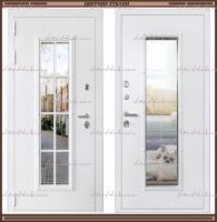 Входная дверь Агора 1,8 мм Белая со стекло-пакетом :