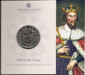 Альфред Великий 5 фунтов Великобритания 2021 на заказ