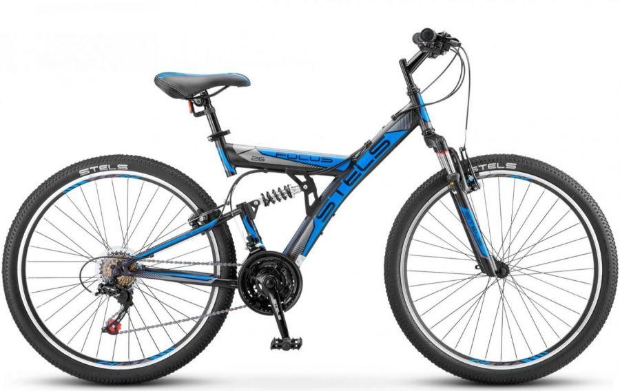 """Велосипед Stels Focus 26' V 18 sp V030 18"""" Тёмно-синий/синий (LU086305 LU083836)"""