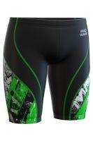 Джаммеры юниорские антихлор Mad Wave Spurt Junior Y6 черно-зеленые