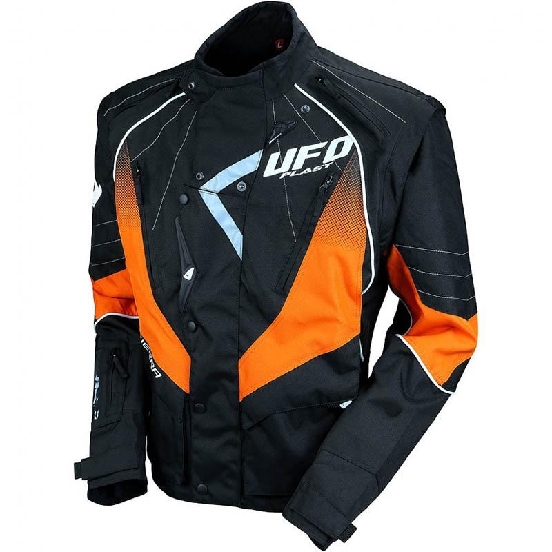 UFO Sierra Enduro Jacket Orange куртка для мотокросса и эндуро, черно-оранжевая