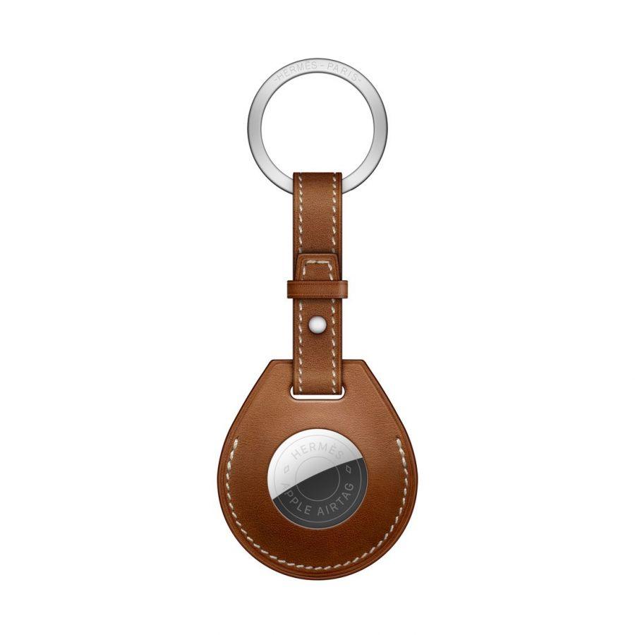 Брелок AirTag Hermès с кольцом для ключей, цвет Fauve