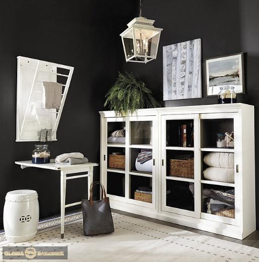 Шкаф для библиотеки Хуго-Dream H012D с декоративным плинтусом