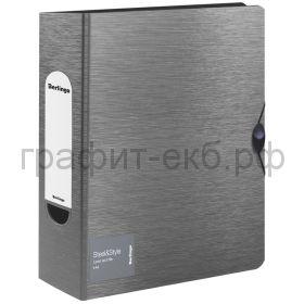 Файл А4 8см Berlingo Steel&Style на резинке серебристый металлик PPf_98102