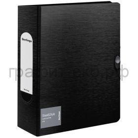 Файл А4 8см Berlingo Steel&Style на резинке черная PPf_98001
