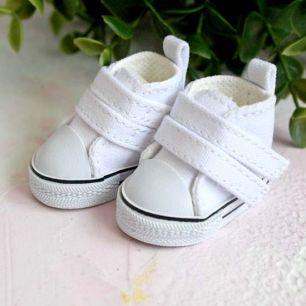 Обувь для кукол ЛЮКС - кеды 5 см (белые)