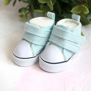 Обувь для кукол ЛЮКС - кеды 5 см (голубые)